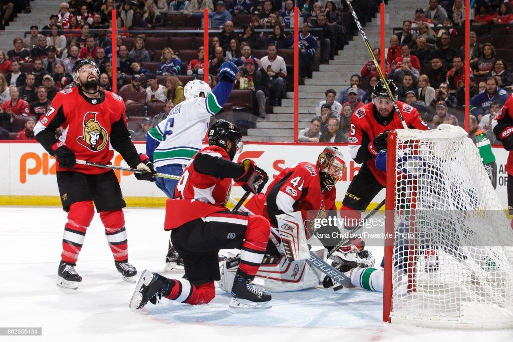 Vancouver Canucks v Ottawa Senators