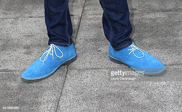 Brock Ciarlelli shoe detail attends 6th Annual Broadway Sings For Pride Concert at JCC Manhattan on June 20 2016 in New York City