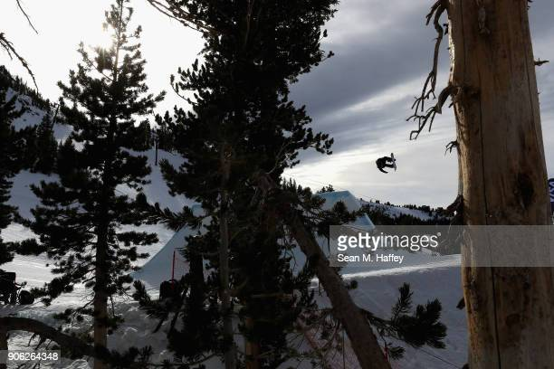 Brock Crouch competes in the qualifying round of Men's Snowboard Slopestyle during the Toyota US Grand Prix on on January 17 2018 in Mammoth...