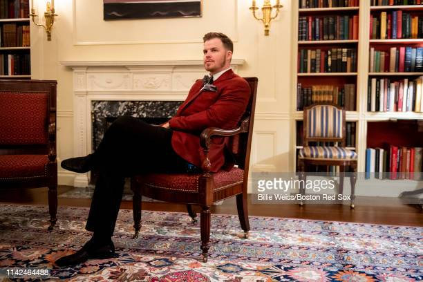 Brock Holt of the Boston Red Sox takes a tour during a visit to the White House in recognition of the 2018 World Series championship on May 9 2019 in...