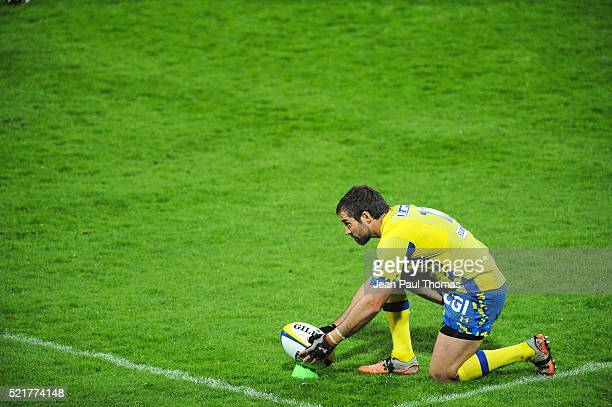 Brock JAMES of Clermont during the French Top 14 rugby union match between Clermont v Agen at Stade Marcel Michelin on April 16 2016 in...