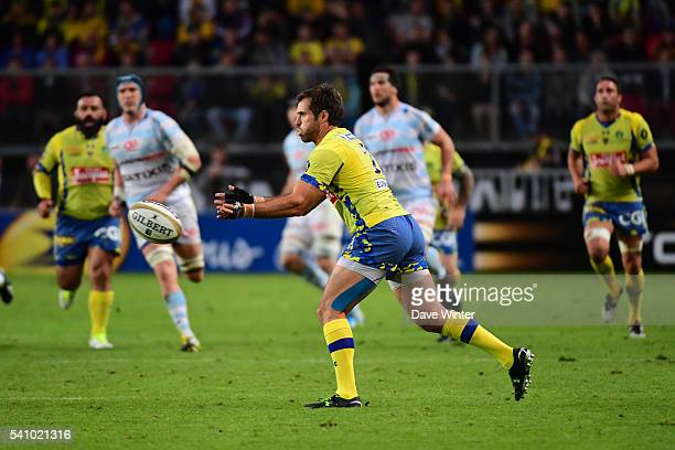 Brock James of Clermont during the Rugby Top 14 League semi final match between Racing 92 and Clermont Auvergne at Roazhon Park on June 17 2016 in...