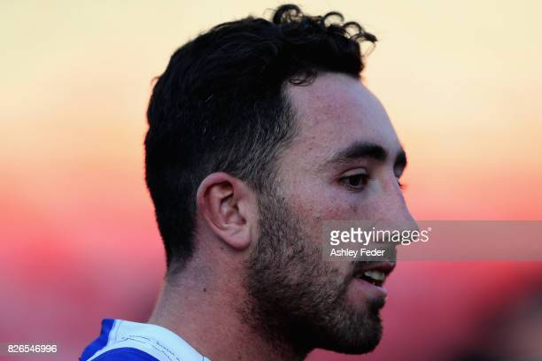 Brock Lamb of the Knights during the round 22 NRL match between the Newcastle Knights and the New Zealand Warriors at McDonald Jones Stadium on...
