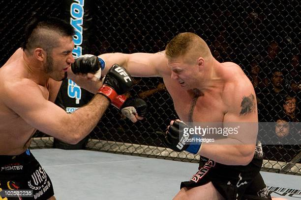 Brock Lesnar def Heath Herring Unanimous Decision during the UFC 87 Seek and Destroy at Target Center on August 92008 in MinneapolisMinnesota
