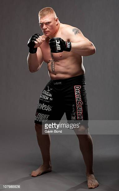 Brock Lesnar poses for a portrait on April 11 2009 in Las Vegas Nevada