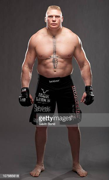 Brock Lesnar poses for a portrait on April 11 2009 in Las Vegas Nevada