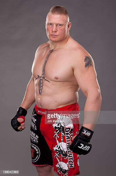 Brock Lesnar poses for a portrait on November 11 2011 in Los Angeles California
