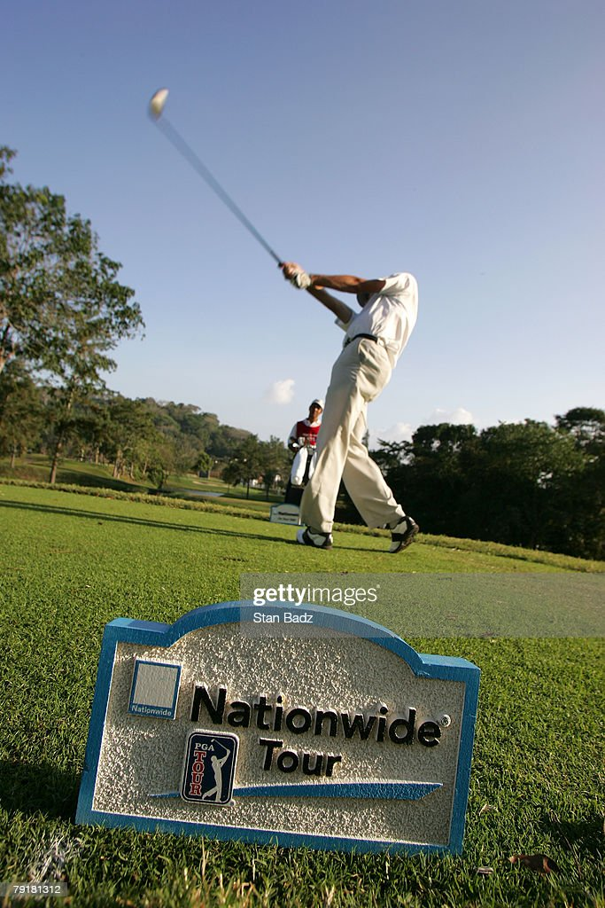 Brock MacKenzie hits from the 6th tee during the Pro-Am for the Movistar Panama Championship held on January 23, 2008 at Club de Golf de Panama in Panama City, Republica De Panama.