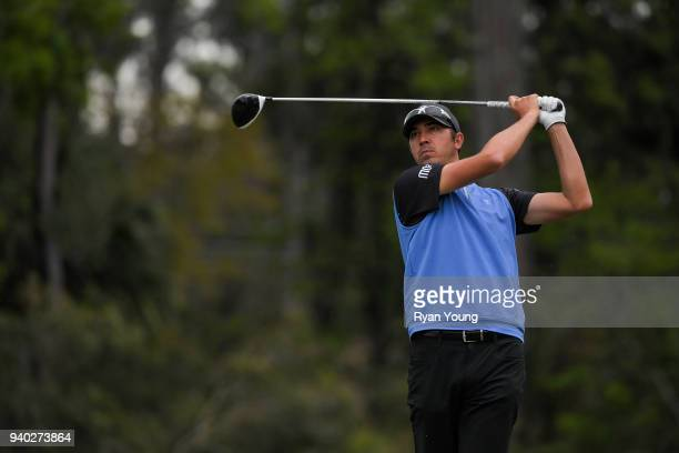 Brock Mackenzie plays his shot from the 14th tee during the second round of the Webcom Tour's Savannah Golf Championship at the Landings Club Deer...