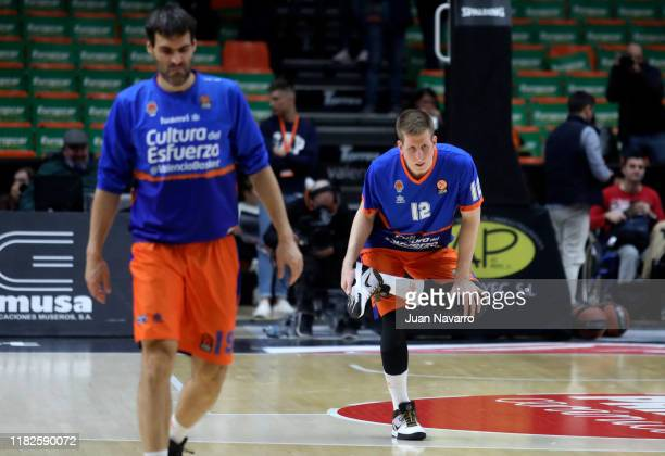 Brock Motum, #12 of Valencia Basket during the practice prior to the 2019/2020 Turkish Airlines EuroLeague Regular Season Round 8 match between...