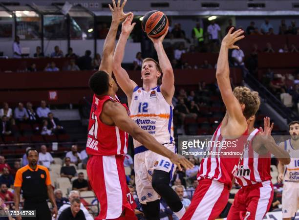 Brock Motum, #12 of Valencia Basket in action during the 2019/2020 Turkish Airlines EuroLeague Regular Season Round 2 match between Olympiacos...