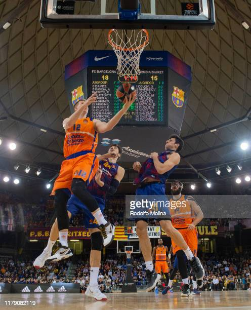 Brock Motum, #12 of Valencia Basket in action during the 2019/2020 Turkish Airlines EuroLeague Regular Season Round 5 match between FC Barcelona and...