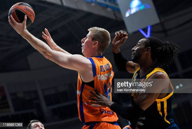 Brock Motum, #12 of Valencia Basket in action during the 2019/2020 Turkish Airlines EuroLeague Regular Season Round 19 match between Khimki Moscow...