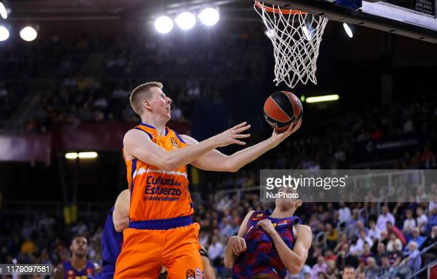 Brock Motum during the match between FC Barcelona and Valencia Basket, played at the Palau Blaugrana, corresponding to the week 5 of the Euroleague,...