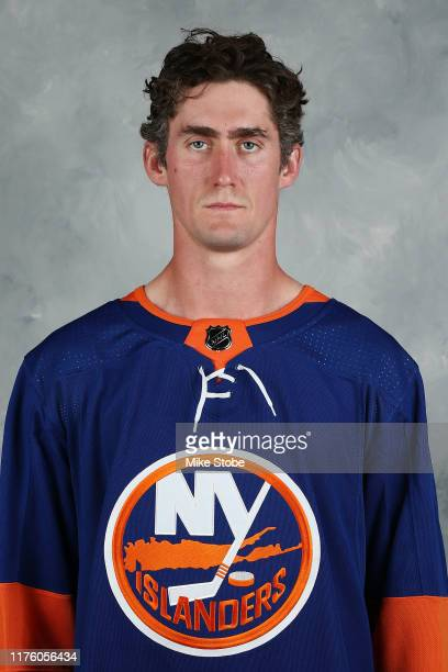 Brock Nelson of the New York Islanders poses for his official headshot for the 2019-2020 season on September 12, 2019 at the Northwell Health Ice...