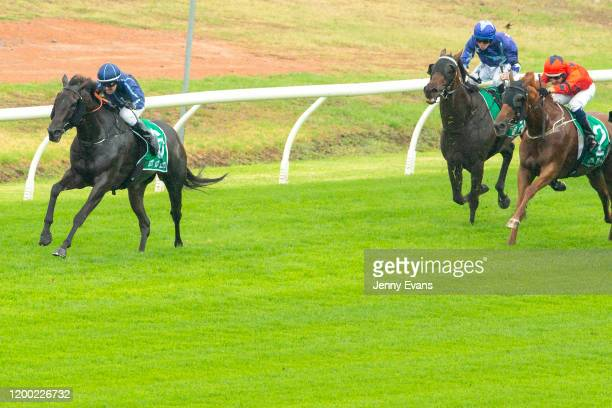Brock Ryan on Roseirro wins race 2 The Tab Highway Handicap during Sydney Racing at Royal Randwick Racecourse on January 18 2020 in Sydney Australia
