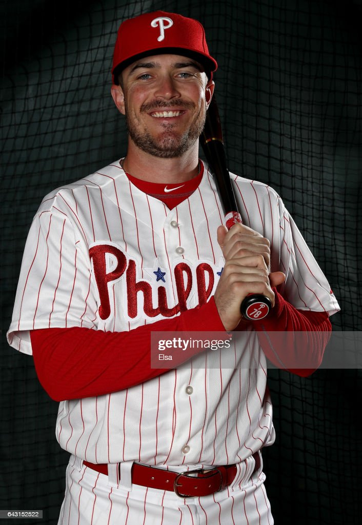 Brock Stassi #78 of the Philadelphia Phillies poses for a portrait during the Philadelphia Phillies photo day on February 20, 2017 at Spectrum Field in Clearwater, Florida.