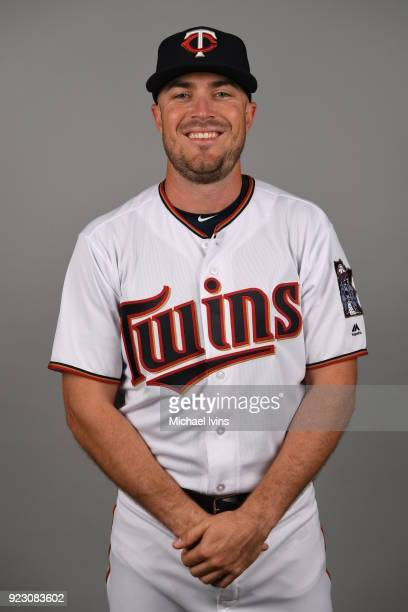 Brock Stassi the Minnesota Twins poses during Photo Day on Wednesday February 21 2018 at CenturyLink Sports Complex in Fort Myers Florida