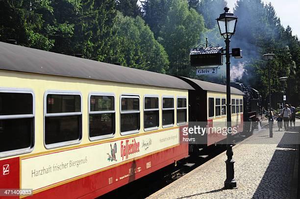 Brocken Railway Steam locomotive waiting a Schierke