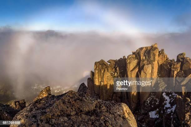 Brocken spectre on the top of Mount Pilion East
