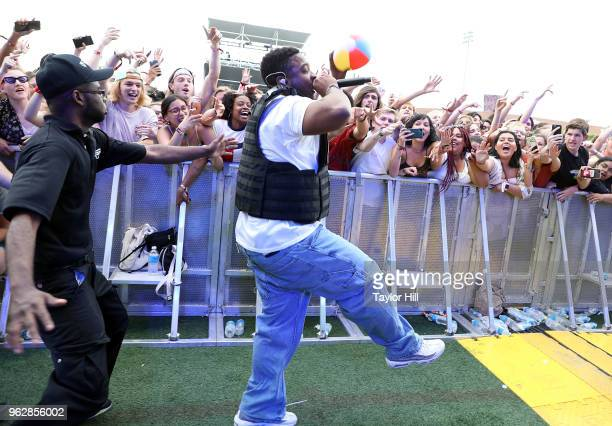 Brockhampton performs during Day 2 of 2018 Boston Calling Music Festival at Harvard Athletic Complex on May 26 2018 in Boston Massachusetts