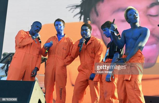 Brockhampton performs on Camp Stage during day 1 of Camp Flog Gnaw Carnival 2017 at Exposition Park on October 28 2017 in Los Angeles California