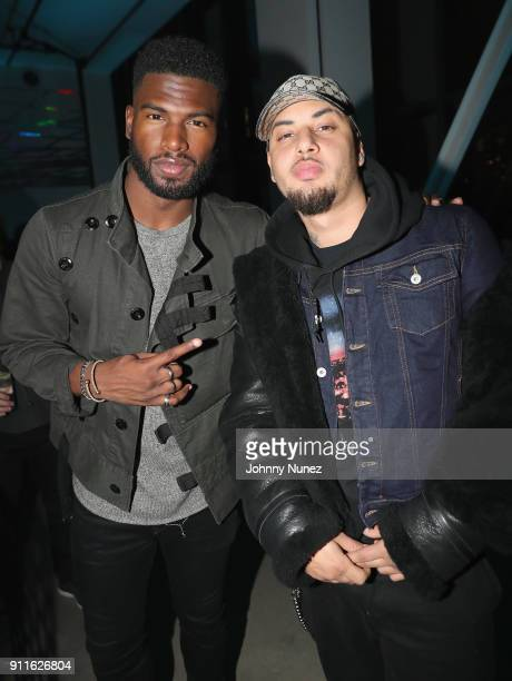 Broderick Hunter and Amir Obe attend Universal Music Group's 2018 After Party to celebrate the Grammy Awards supported by The House Of Remy Martin at...