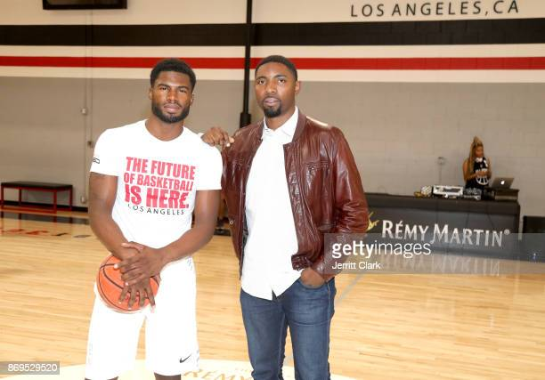 Broderick Hunter and Roger Mason Jr attend The Launch of The House Of Remy Martin MVP Experience at Shoot 360 on November 2 2017 in Torrance...