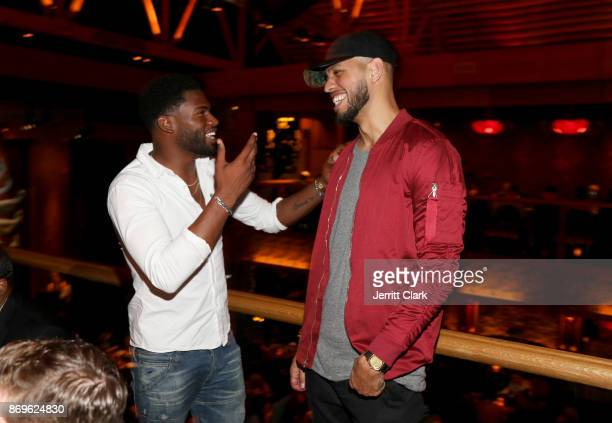 Broderick Hunter and Sarunas Jackson attend The MVP Experience Launch Dinner hosted by The House of Remy Martin at Tao on November 2 2017 in Los...