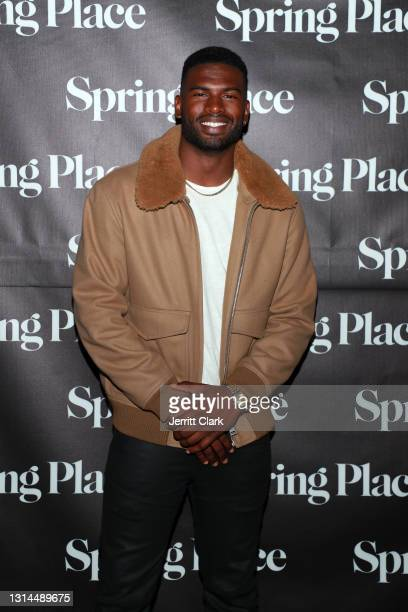 Broderick Hunter attends Spring Place's Oscars party honoring Andra Day and the cast of The United States vs. Billie Holiday on April 26, 2021 in...