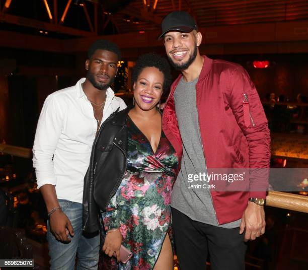 Broderick Hunter The5thColumn PR Vice President Ericka Regine and Sarunas Jackson attend The MVP Experience Launch Dinner hosted by The House of Remy...