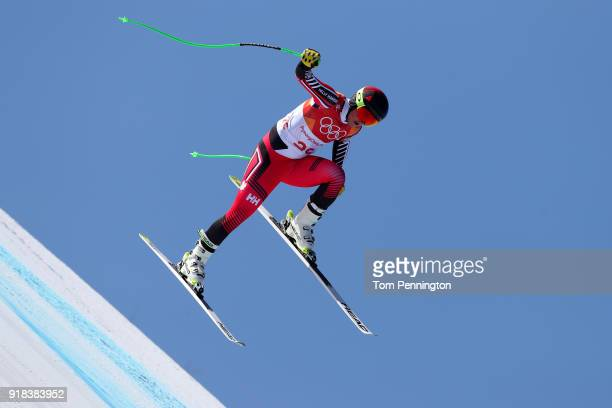 Broderick Thompson of Canada makes a run during the Men's Downhill on day six of the PyeongChang 2018 Winter Olympic Games at Jeongseon Alpine...