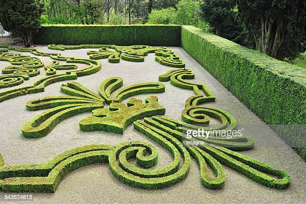 Broderie parterre in the garden of Mateus Palace in Mateus / Portugal About 2000