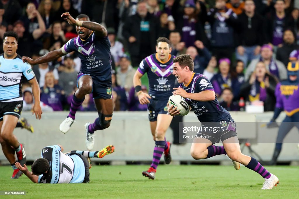 NRL Preliminary Final - Storm v Sharks : News Photo