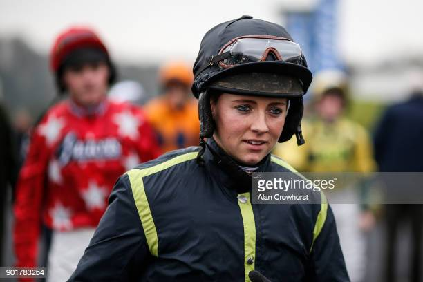 Brodie Hampson poses at Chepstow racecourse on January 6 2018 in Chepstow Wales