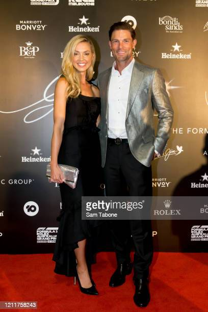 Brodie Harper and Heath Meldrum attends the Glamour On The Grid party on March 11 2020 in Melbourne Australia