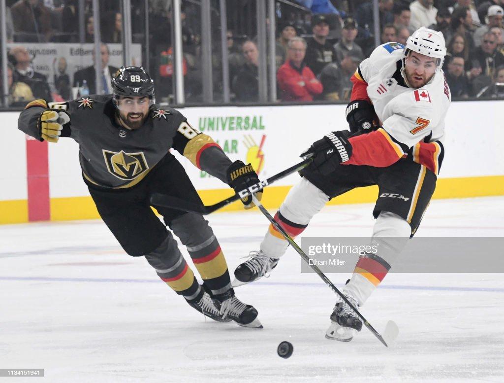 Calgary Flames v Vegas Golden Knights : News Photo