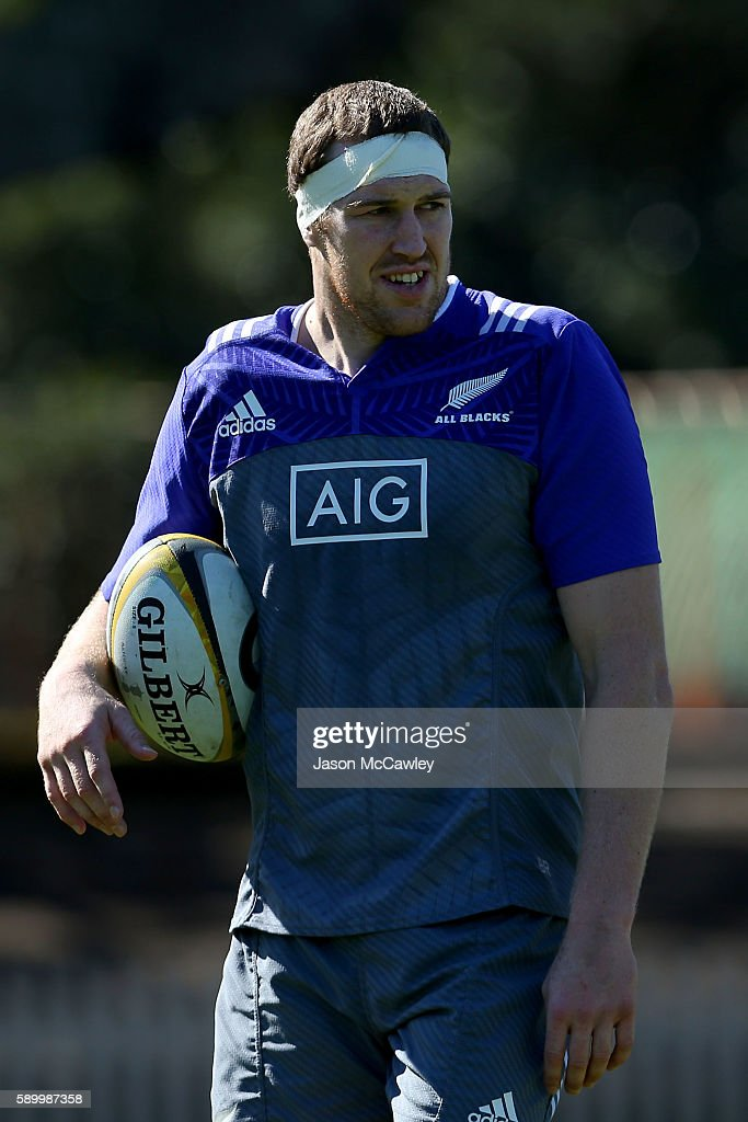 Brodie Retallick of the All Blacks during a New Zealand All Blacks training session at North Sydney Oval on August 16, 2016 in Sydney, Australia.