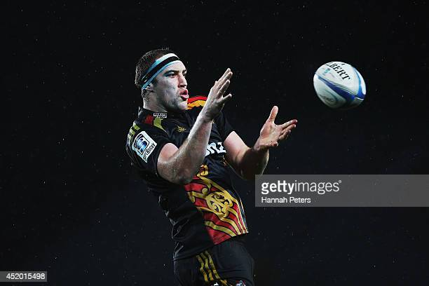 Brodie Retallick of the Chiefs wins lineout ball during the round 19 Super Rugby match between the Blues and the Chiefs at Eden Park on July 11 2014...