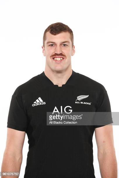 Brodie Retallick poses during a New Zealand All Blacks headshots session on May 21 2018 in Auckland New Zealand