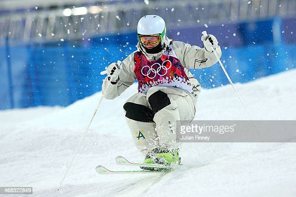 Brodie Summers of Australia competes in the Men's Moguls Qualification on day three of the Sochi 2014 Winter Olympics at Rosa Khutor Extreme Park on...