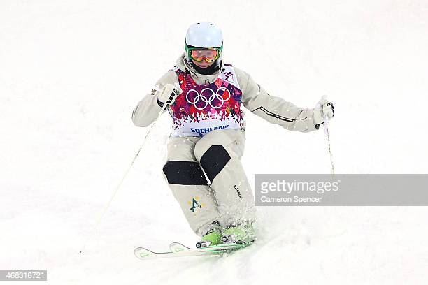 Brodie Summers of Australia practices ahead of the Men's Moguls Qualification on day three of the Sochi 2014 Winter Olympics at Rosa Khutor Extreme...