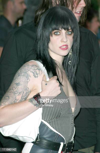 Brody Dalle of The Distillers during 2004 Kerrang Awards Arrivals at The Brewery in London Great Britain
