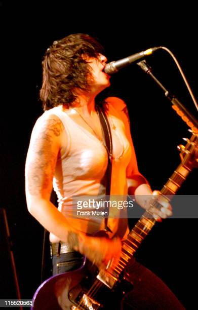 Brody Dalle of The Distillers during The Distillers in Concert April 10 2004 at Cotton Club in Atlanta Georgia United States