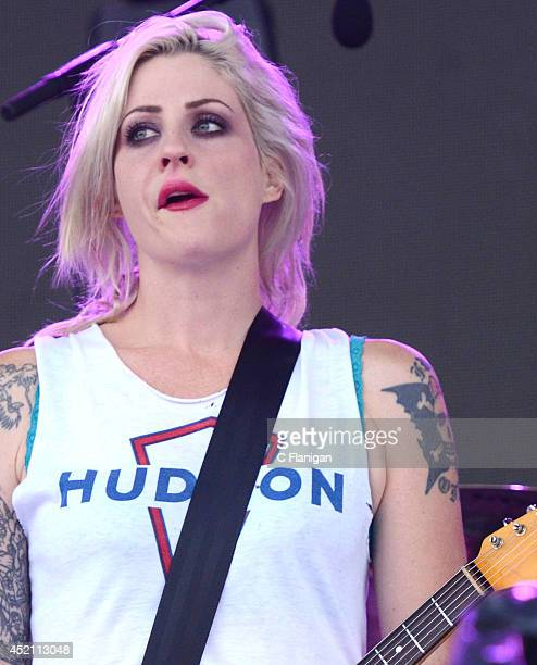 Brody Dalle performs during the 2014 Quebec City Summer Festival on July 10 2014 in Quebec City Canada