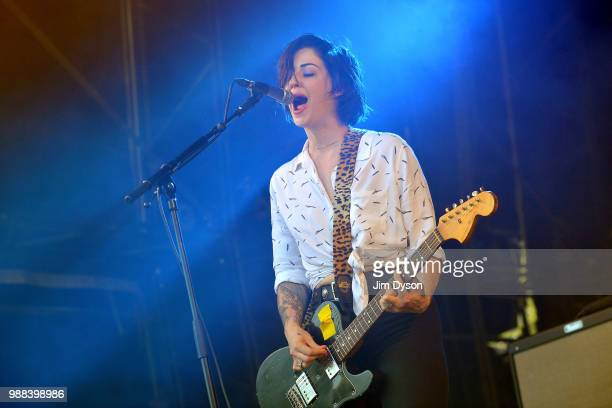 Brody Dalle performs live on stage at Finsbury Park on June 30 2018 in London England