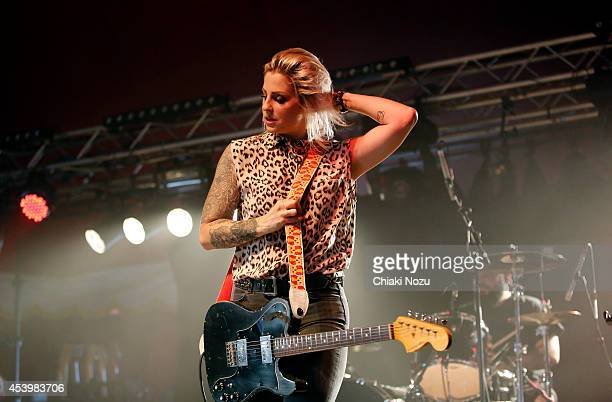 Brody Dalle performs on Day 1 of the Reading Festival at Richfield Avenue on August 22 2014 in Reading England