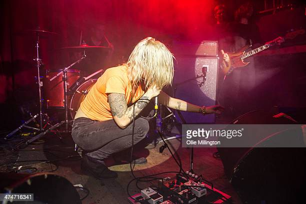 Brody Dalle performs on stage at an NME Awards Show at Hoxton Square Bar And Kitchen on February 24 2014 in London United Kingdom