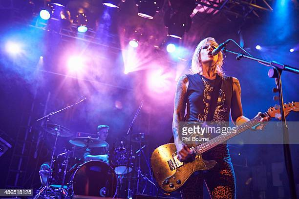 Brody Dalle performs on stage at Electric Ballroom on April 24 2014 in London United Kingdom