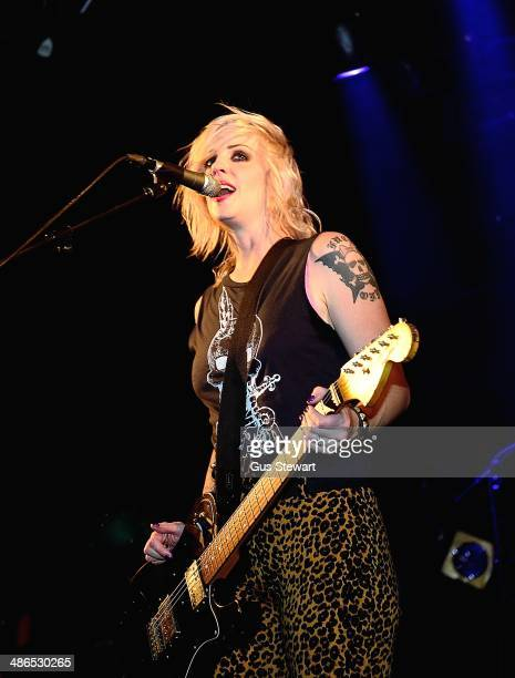 Brody Dalle performs on stage at Electric Ballroom on April 24 2014 in London England